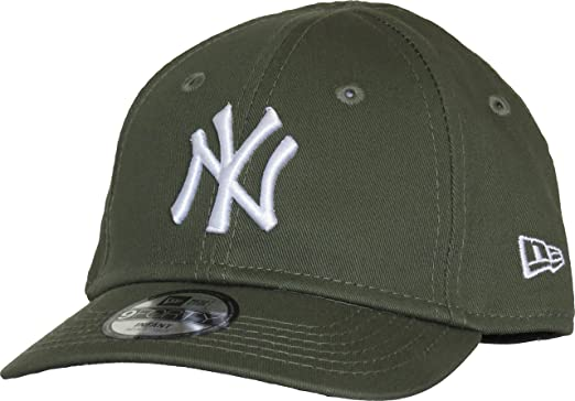 9c114fc2135 New Era Hats Baby 9FORTY New York Yankees Baseball Cap - Olive Infant 1-Size
