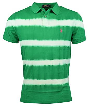 cb702a65 Polo Ralph Lauren Men's Custom-Fit Tie-Dyed Cotton Polo, Stem Green ...