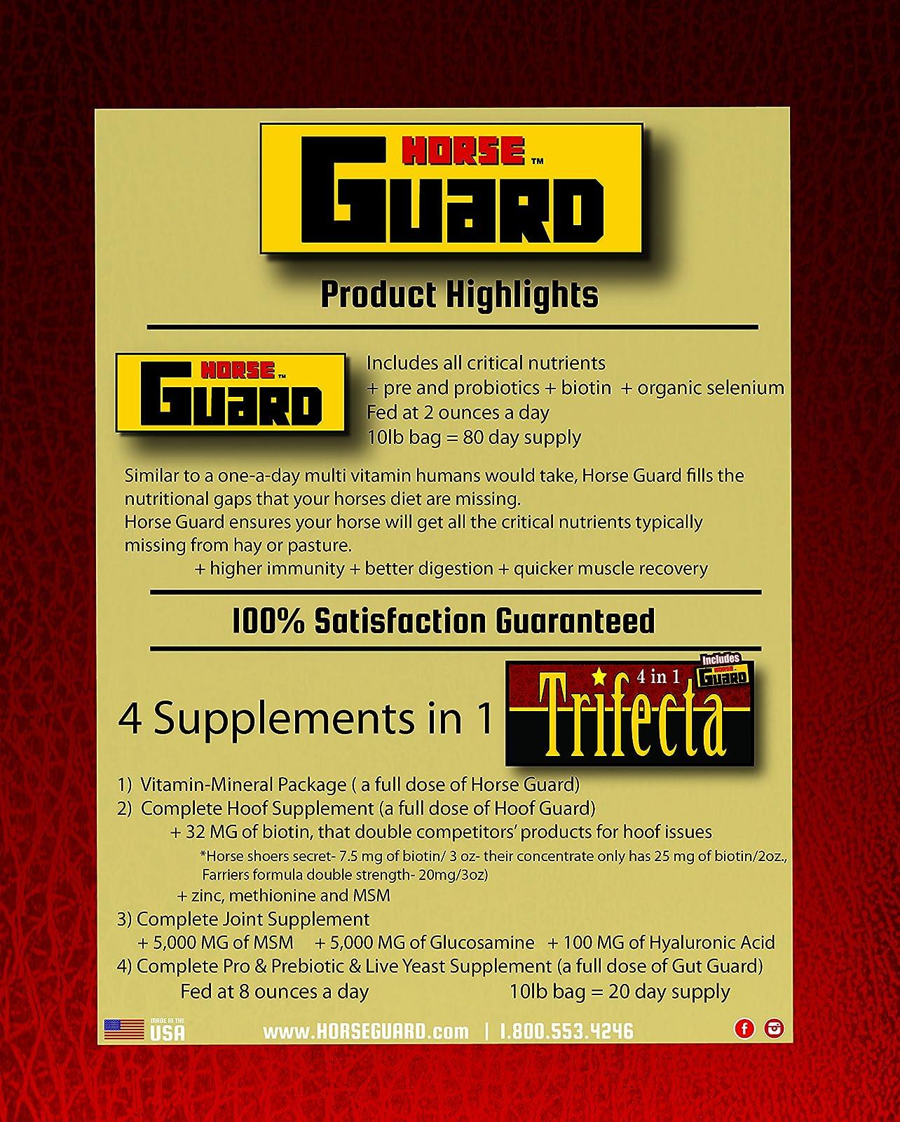 Horse Guard Trifecta Equine Vitamin Mineral Joint Trifecta 10lb bag - 4