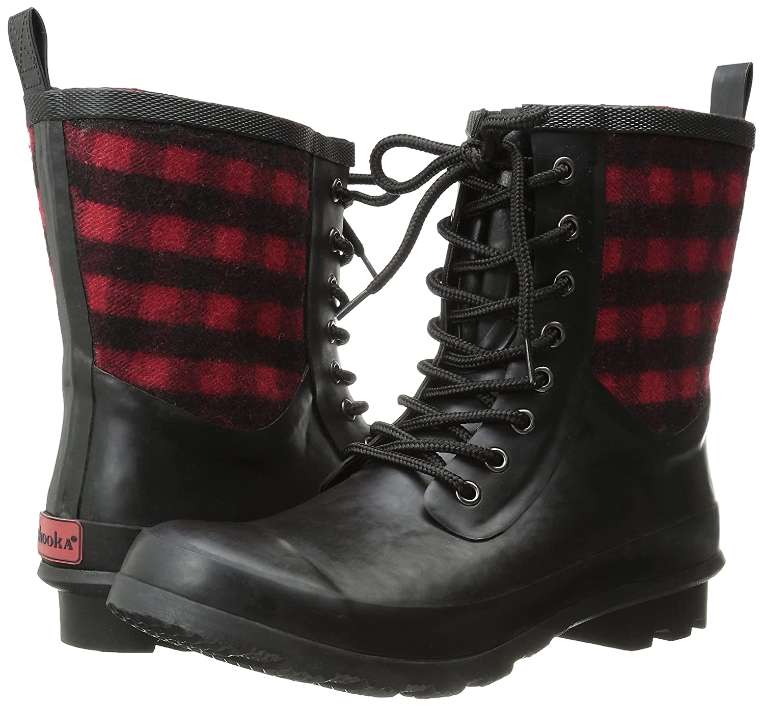 Womens Cara Plaid Rain Boot
