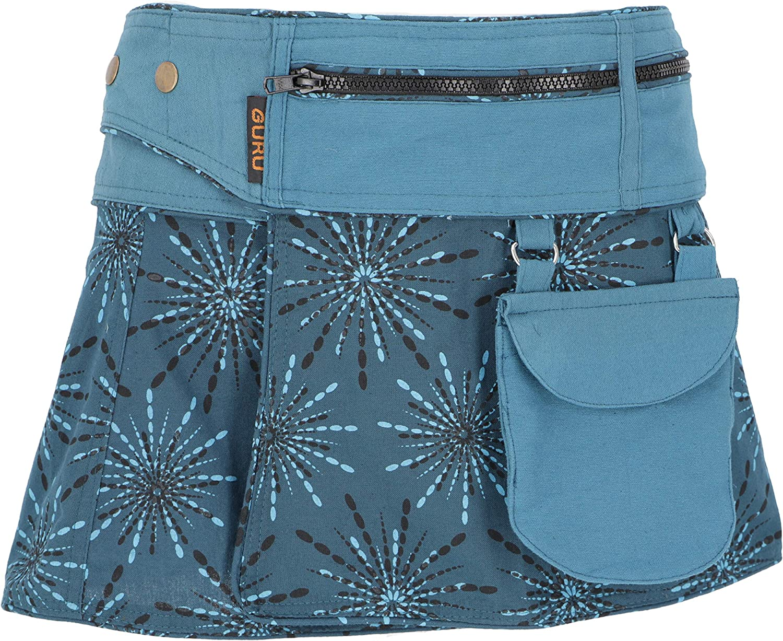Sidebag Guru-Shop Gonna a Portafoglio Cacheur Cotone Gonne Corte
