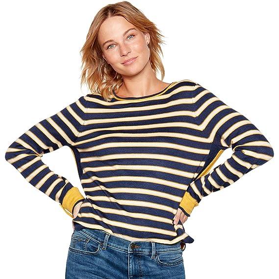 ad22a4c2ae0803 Mantaray Womens Mustard Stripe Knit Jumper  Mantaray  Amazon.co.uk  Clothing