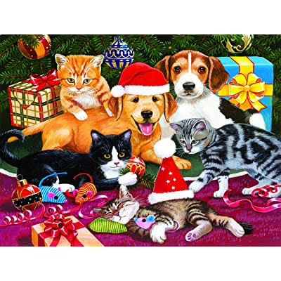 Christmas Meeting 300 Piece Jigsaw Puzzle by SunsOut: Toys & Games