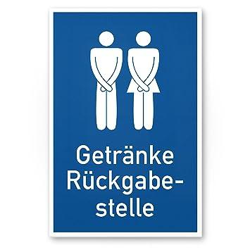 Getränke Rückgabestelle, Lustiges WC Kunststoff Schild   Türschild  Toilette, Gäste WC/