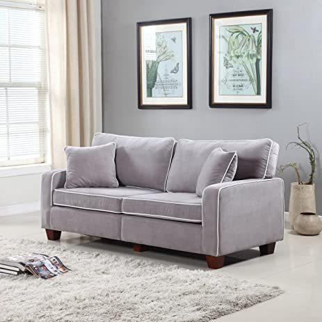Amazoncom Divano Roma Furniture Collection Modern Two Tone