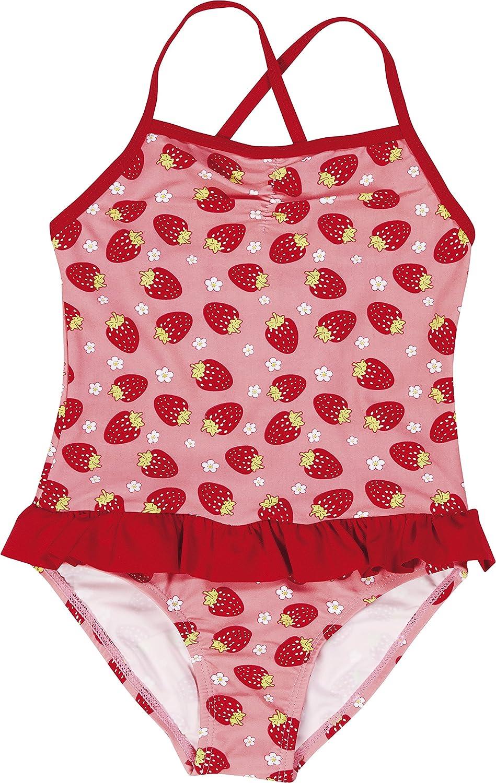 Playshoes Mädchen Einteiler Uv-Schutz Badeanzug Erdbeeren Playshoes GmbH 460293