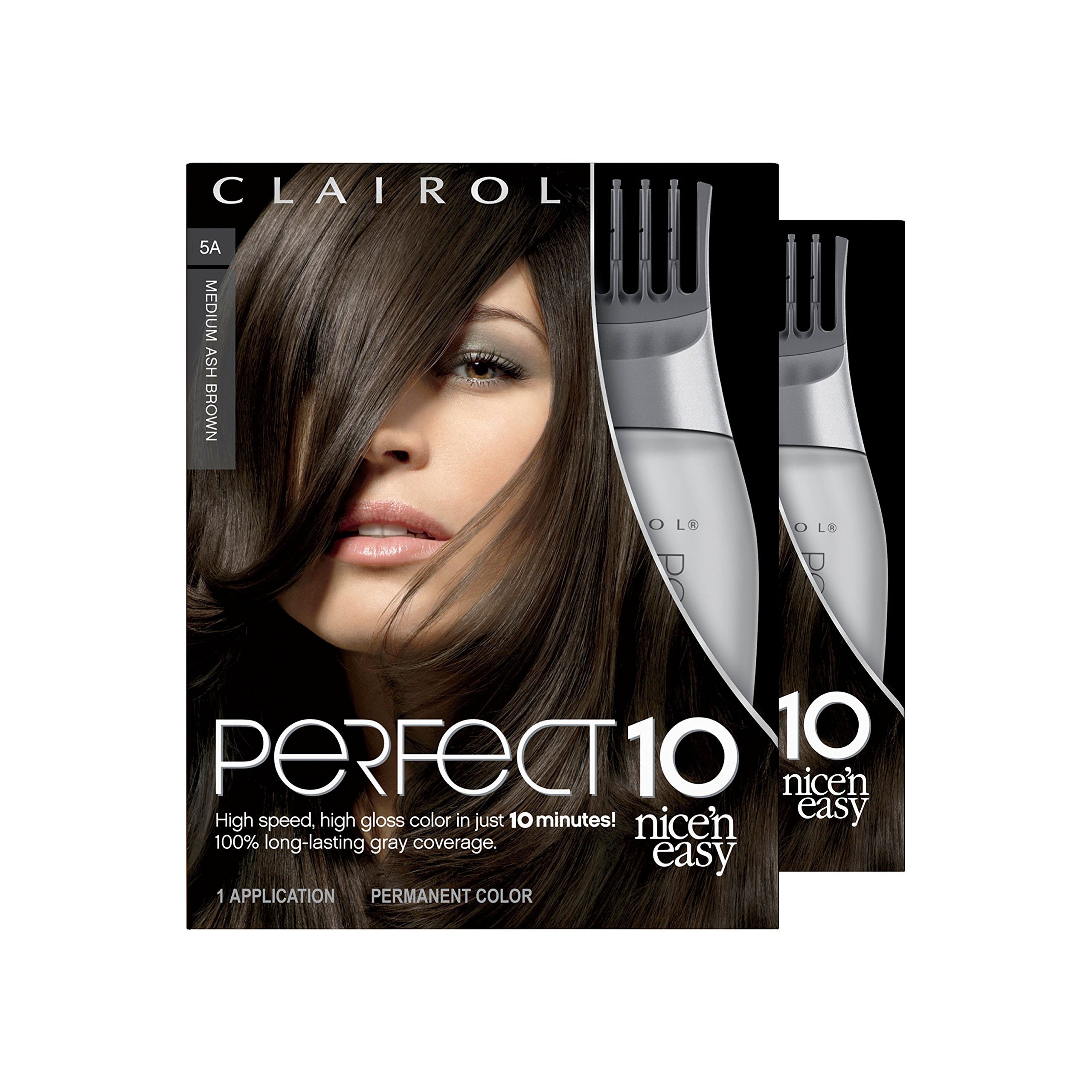 Clairol Perfect 10 By Nice 'N Easy Hair Color Kit (Pack of 2), 005A Medium Ash Brown, Includes Comb Applicator, Lasts Up To 60 Days by Clairol (Image #12)