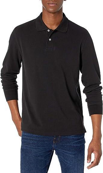 Amazon Essentials Men's Regular-fit Long-Sleeve Pique Polo