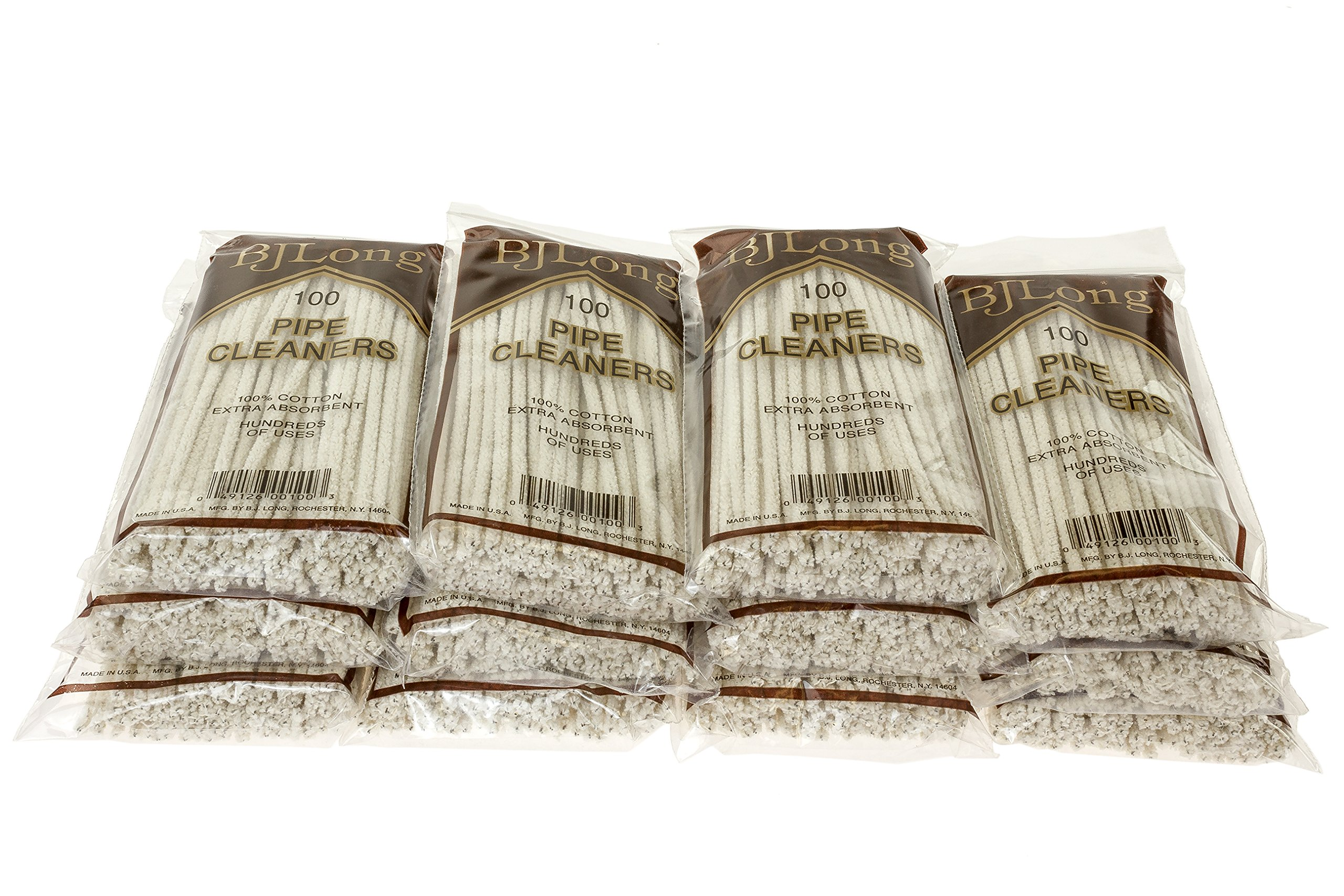 BJ Long Pipe Cleaners 100 Count - 12 Pack TP-1424 by BJ Long