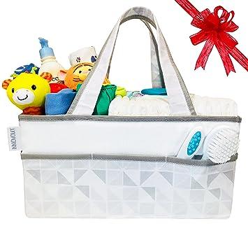 Baby Diaper Caddy Organizer - Nursery Storage Bin u0026 Portable Organizer Basket for Infant Essentials by  sc 1 st  Amazon.com & Amazon.com : Baby Diaper Caddy Organizer - Nursery Storage Bin ...