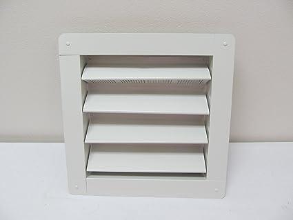 "Cobertizo rejilla de aluminio 8 ""x 8"" blanco montaje empotrado, ..."