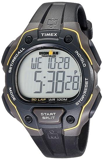 Timex T5K494SU - Reloj de caballero de cuarzo, correa de resina color negro: Timex: Amazon.es: Relojes