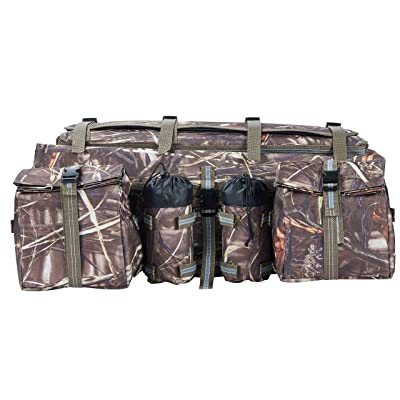 ATV Cargo Bag Rear Rack Gear Bag Made of 600D Waterproof Fabric with Topside Bungee Tie-Down Storage Padded-Bottom Multi-compartment Camo: Automotive