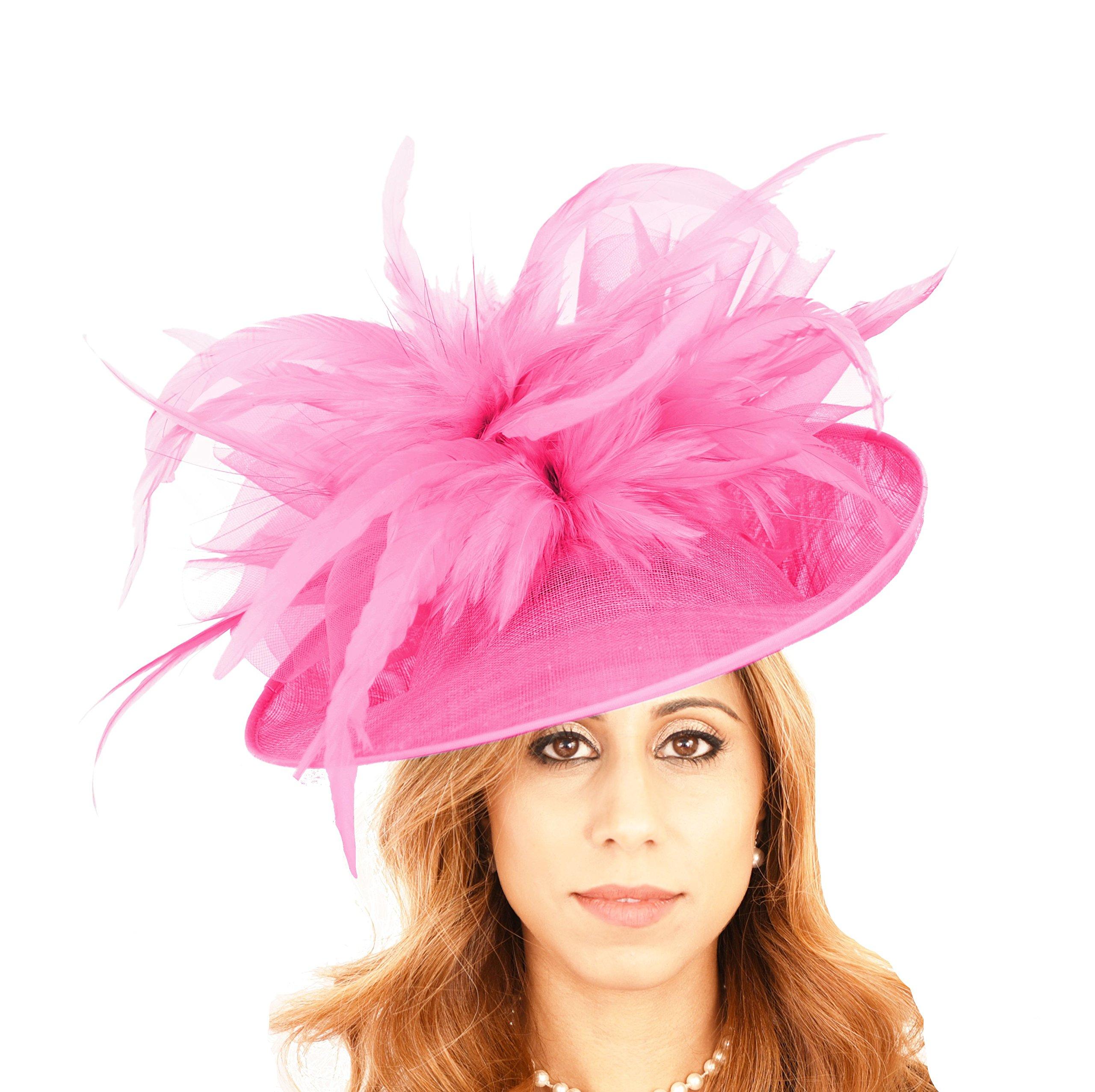 Gorgeous Buzzard Fuchsia Bow Ascot Derby Wedding Hat