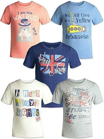 016e2ec5 Amazon.com: The Beatles Lyrics Boys Girls 5 Pack T-Shirts Blue, Red ...