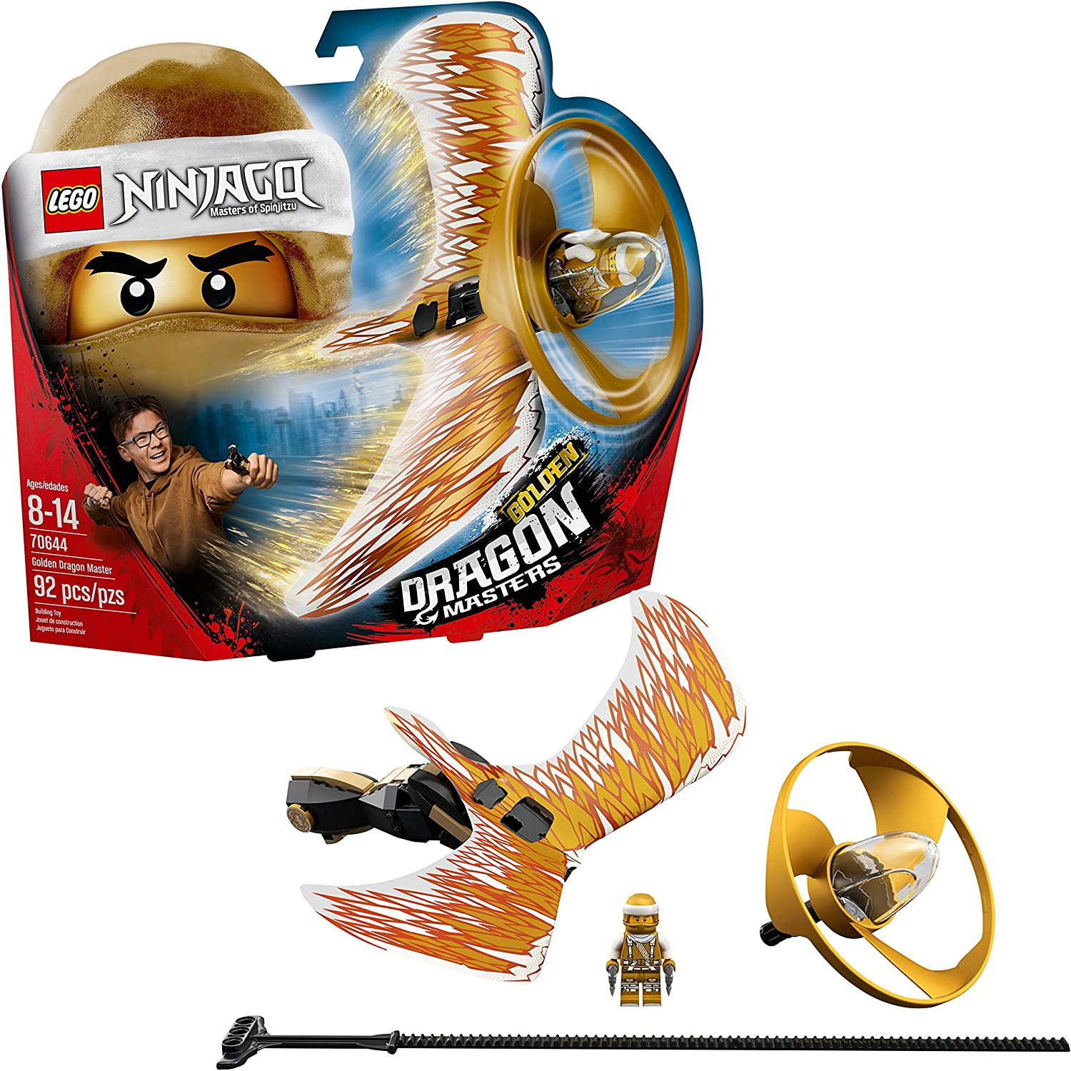 LEGO NINJAGO Golden Dragon Master 70644 Building Kit (92 Piece)