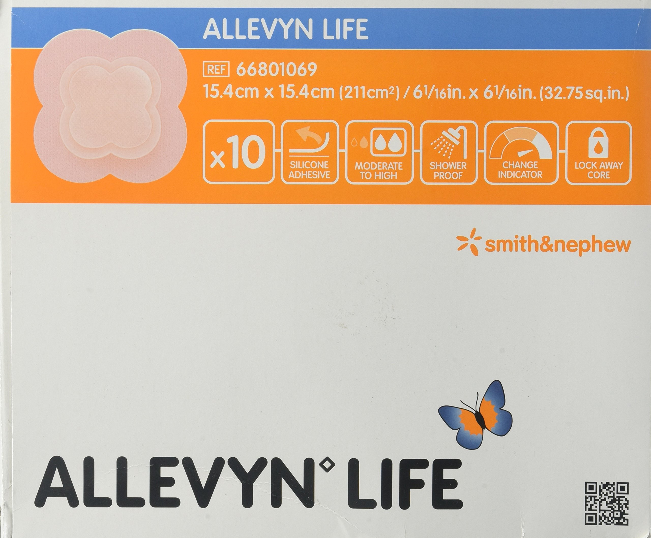 Smith & Nephew Foam Dressing Allevyn Life 6.06 X 6.06'' Quadrilobe Sterile (#66801069, Sold Per Box) by Allevyn Life