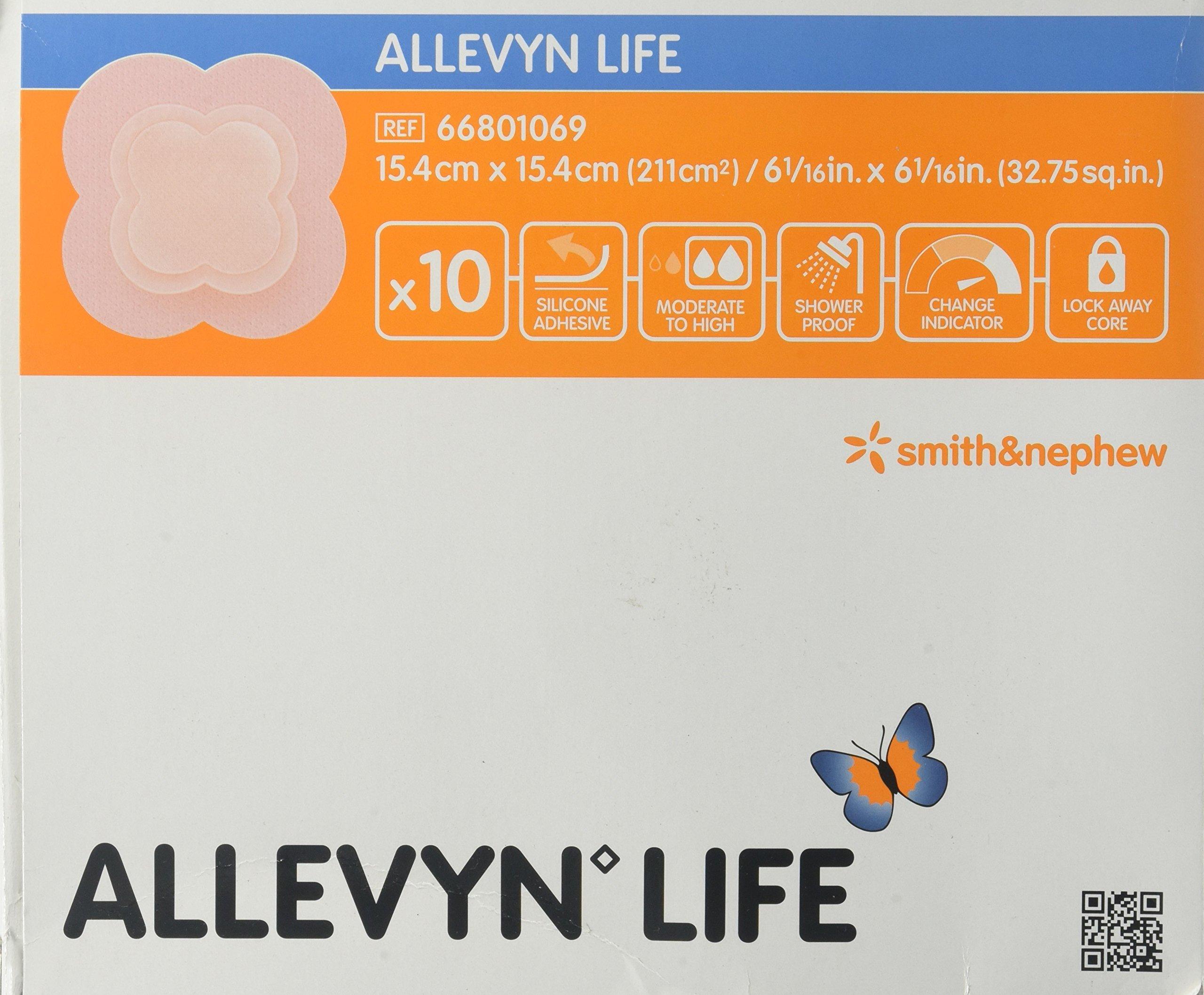 Smith & Nephew Foam Dressing Allevyn Life 6.06 X 6.06'' Quadrilobe Sterile (#66801069, Sold Per Box)