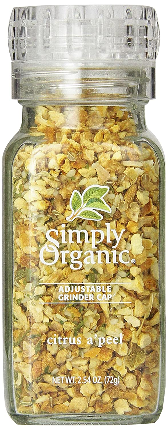 Simply Organic Citrus A'peel Certified Organic, 2.54-Ounce Container