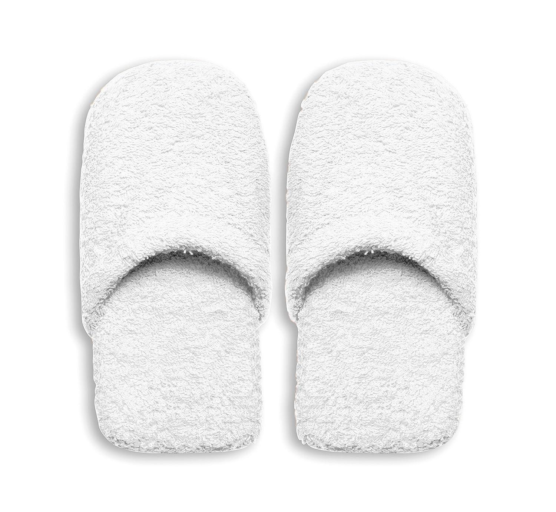 Excelsa Caldo Pantofole da Bagno, Spugna, Rosso, 36-40 Bianco