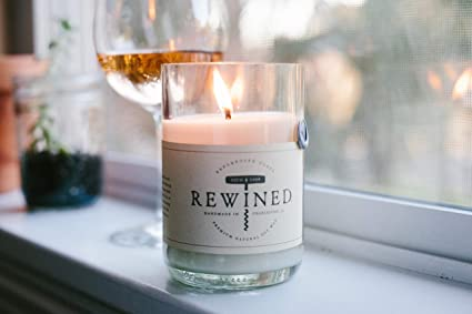 Amazoncom Rewined Rose Fragrance Soy Wax Scented Candle With Notes