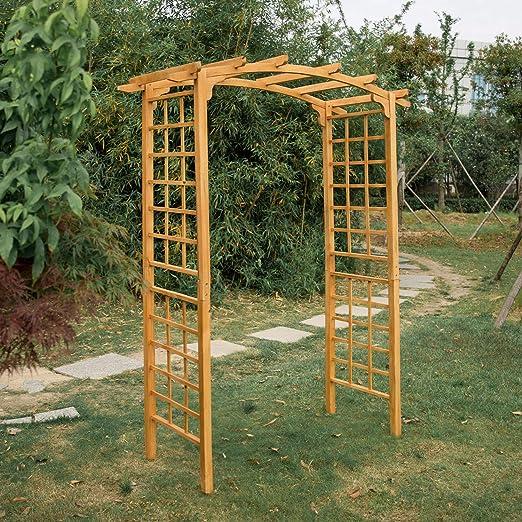 Kintness - Arco de Madera para jardín de 90 Pulgadas de Alto para ...
