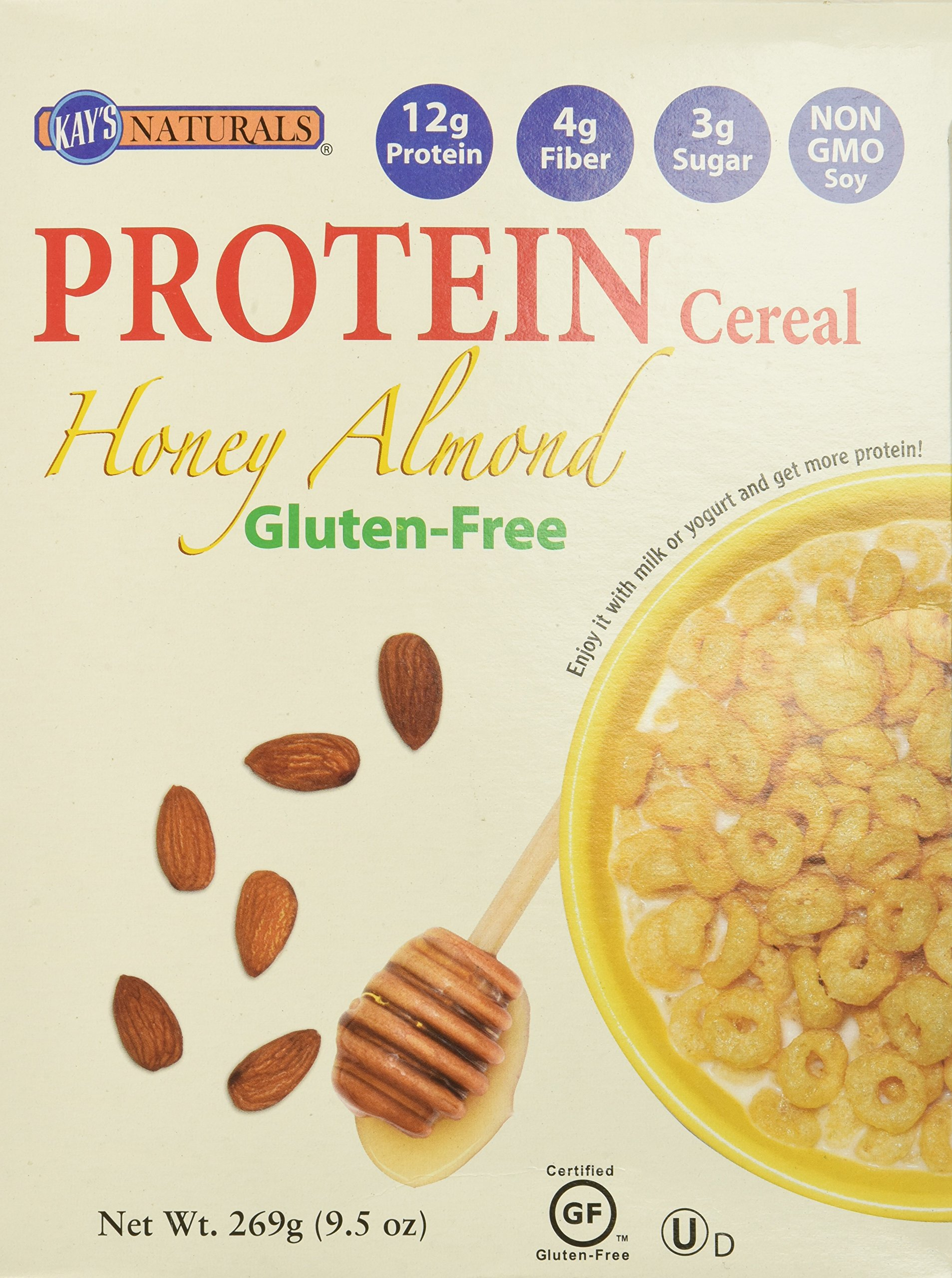 Kay's Natural Gluten Free Protein Honey Almond Cereal, 9.5 oz