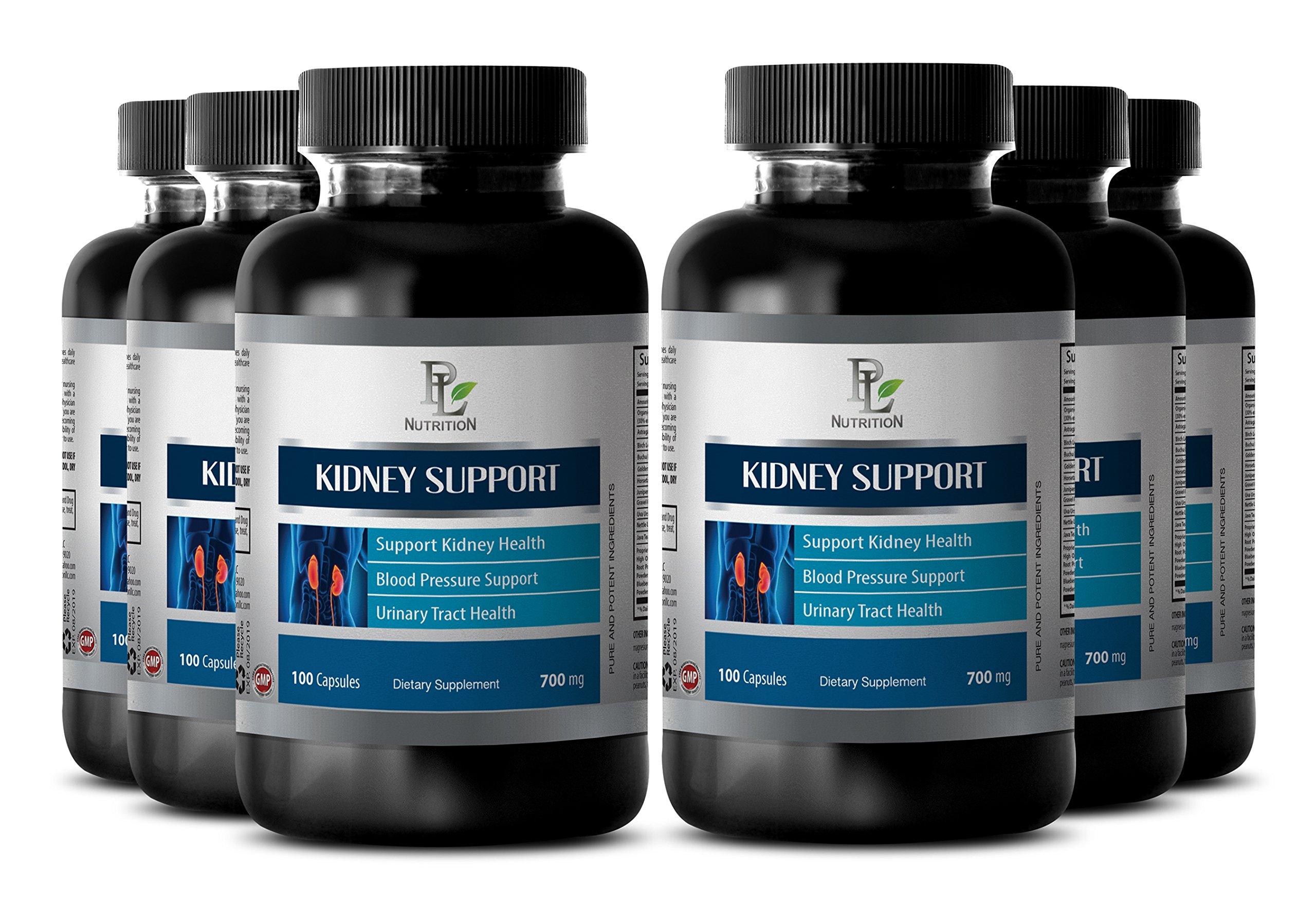 Bladder ease - KIDNEY SUPPORT COMPLEX - Bladder supplement - 6 Bottles 600 Capsules