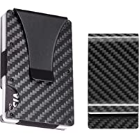 BSWolf Carbon Fiber Slim Minimalist Front Pocket Wallet Credit Card Case Holder RFID Blocking