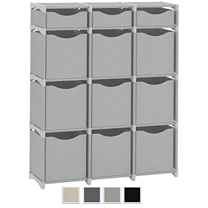 12 Cube Organizer Set Of Storage Cubes Included Diy Cubby Organizer Bins Cube Shelves Ladder Storage Unit Shelf Closet Organizer For Bedroom