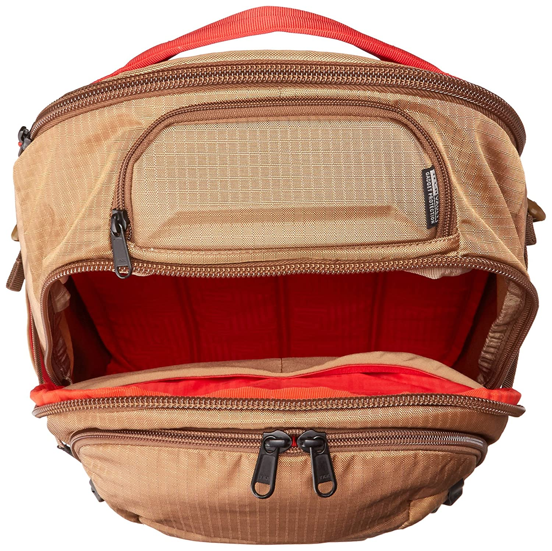Khaki//Red OGIO Ascent Backpack