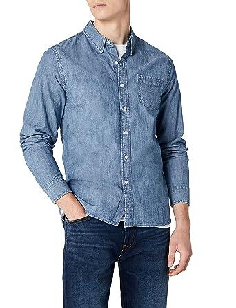 Levis Sunset 1 Pocket Shirt, Camisa Vaquera para Hombre, Azul (Chambray Indigo 0345