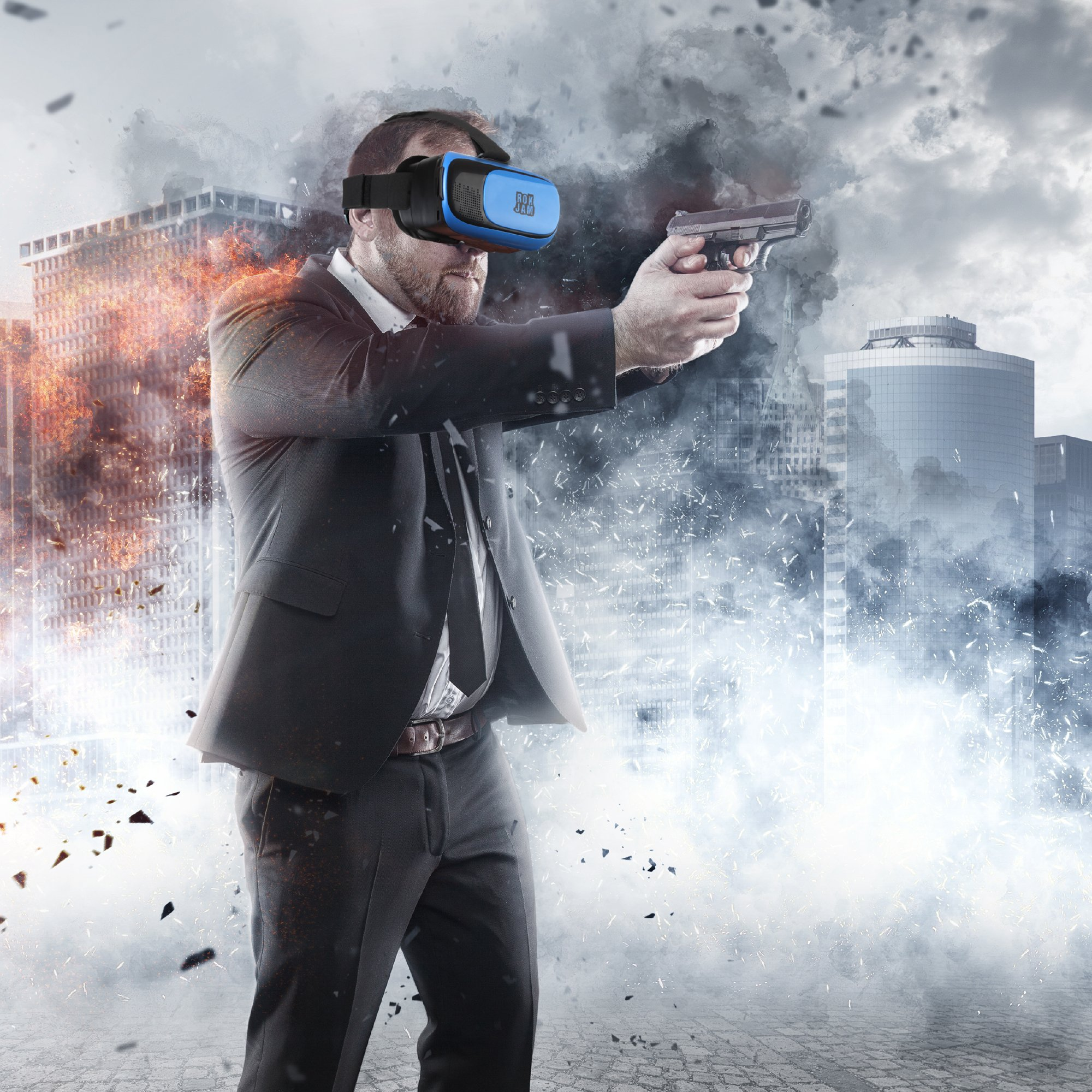 3D VR Headset Technology - Best Virtual Reality Experience For Games & Video - Watch Movies In Breathtaking HD With Your Smartphone Fit Glasses & Helmet - Goggles For Your iPhone & Android Smartphones by Rok Am (Image #2)