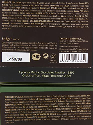 Chocolate Amatller Barcelona - Caja de chocolates (70% cacao ...