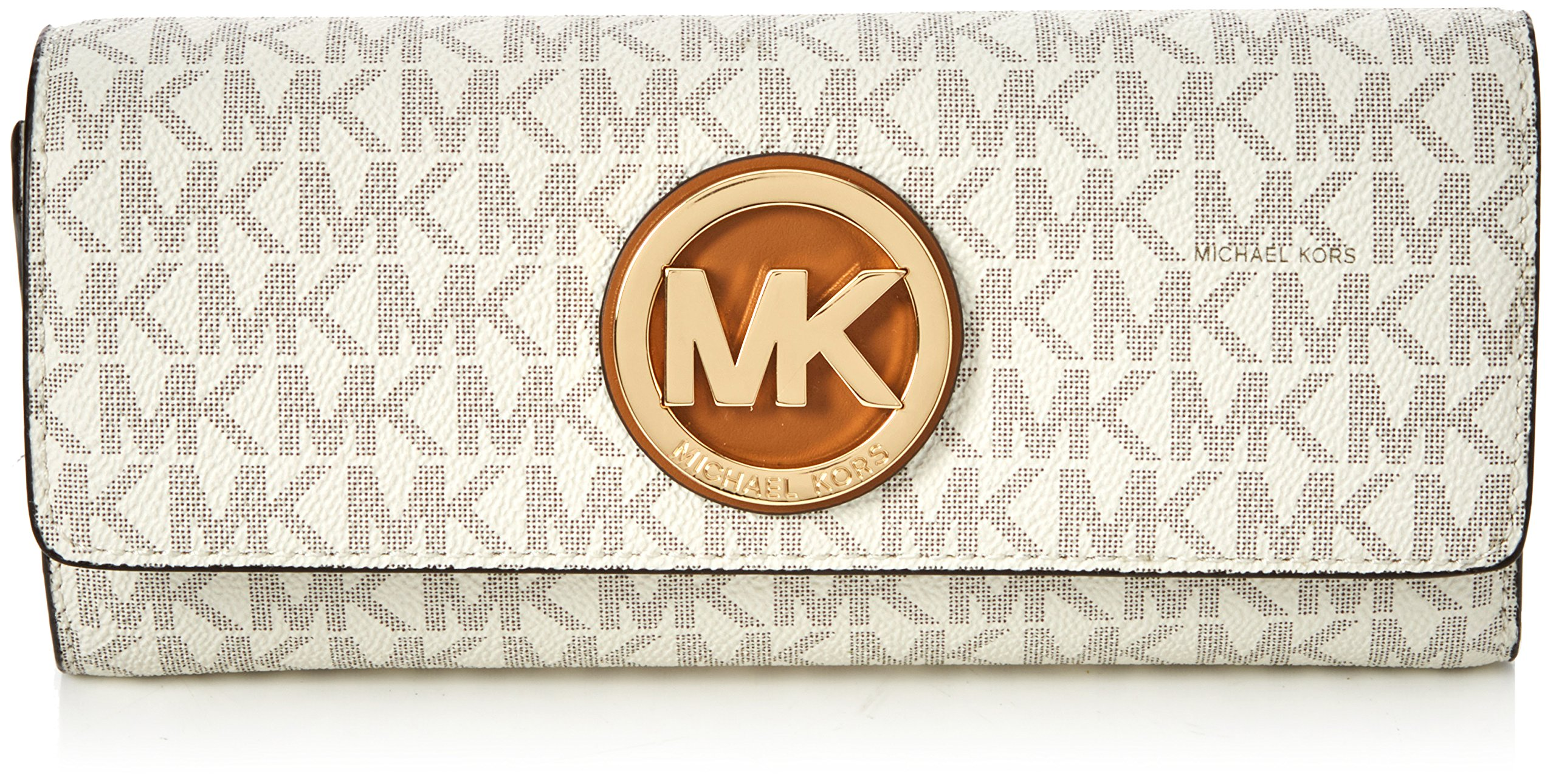 MICHAEL KORS PVC Leather Fulton Flap Continental Wallet, 32S7GFTE3B VANILLA by MICHAEL Michael Kors