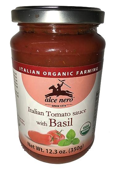 Alce Nero USDA Certified Organic Italian Tomato Sauce with Basil - 12.3 oz.