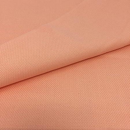Tela para Punto de Cruz | 75cm x 50cm | 5,5 puntos/cm – 14 cuentas | 100% algodón | Elige color | de Delicatela (Salmón): Amazon.es: Hogar