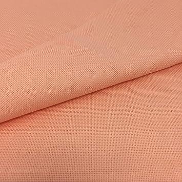 Tela para Punto de Cruz | 75cm x 50cm | 5,5 puntos/cm - 14 cuentas | 100% algodón | Elige color | de Delicatela (Salmón): Amazon.es: Hogar