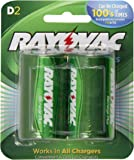 Rayovac Recharge PLUS High-Capacity Rechargeable 3000 mAh NiMH D Pre-Charged Batteries, 2-pack (PL713-2)