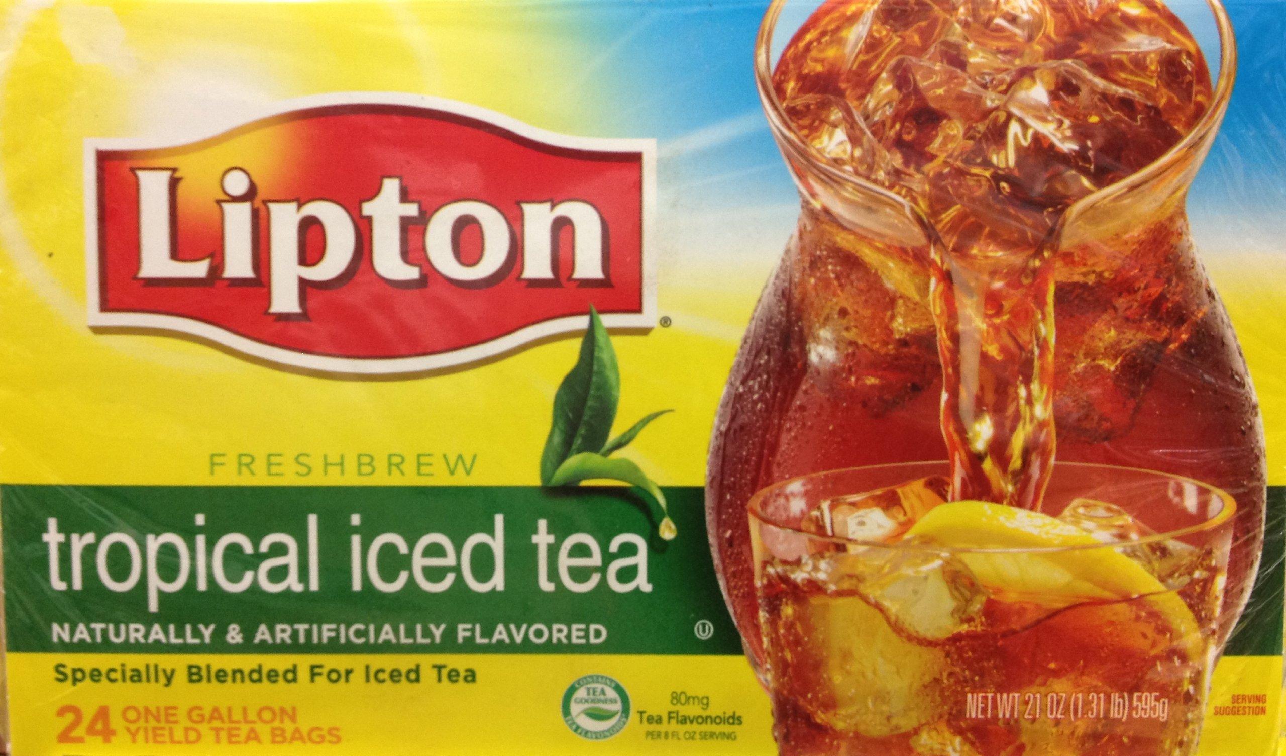 24 Gallon Size Lipton Tropical Iced Tea Bags (1 Box per order) by Lipton