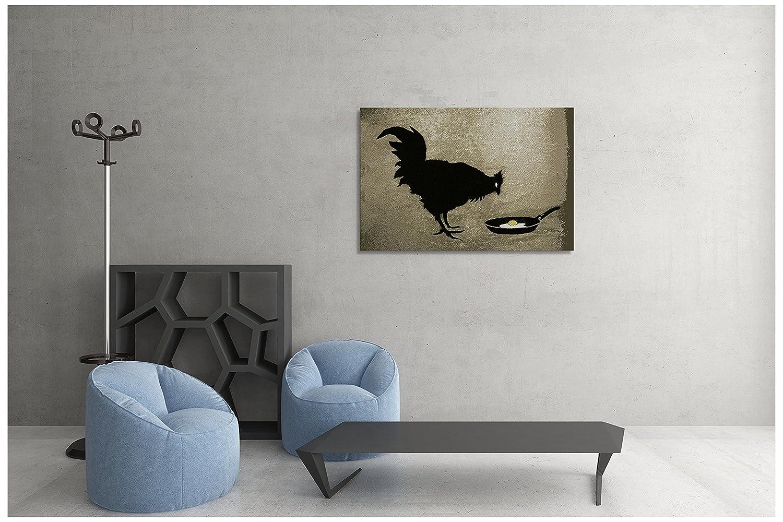 Pingo World 0915PCPFLUG Chicken and Egg Gallery Wrapped Canvas Print 20 X 30. Bonus Free Banksy Wall Decal, 20 x 30 , Variable