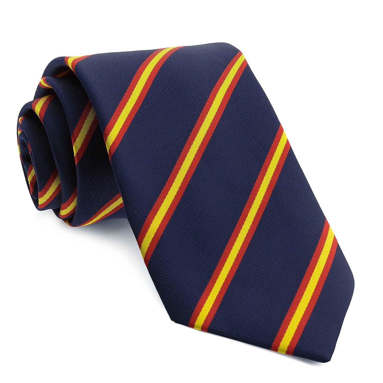 Cencibel Smart Casual Corbata Rayas Bandera de España (Azul): Amazon.es: Ropa y accesorios