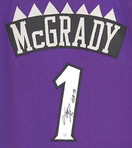 sports shoes 9ec73 8c1db Tracy McGrady Toronto Raptors Signed Autographed Purple #1 ...