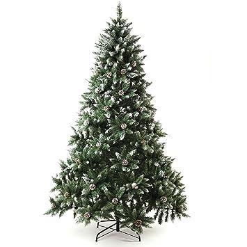 Amazoncom Senjie Artificial Christmas Tree 6775 Foot Flocked