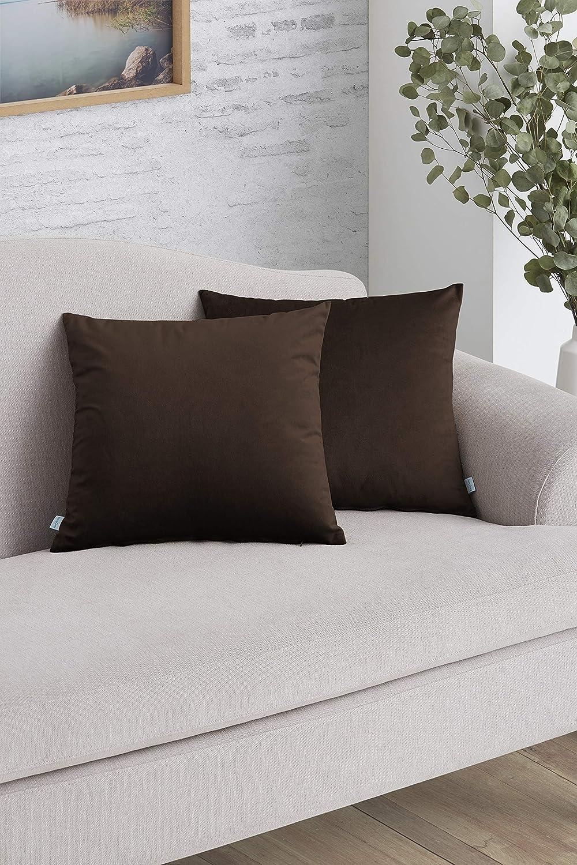 Easycosy - Pack Funda de Cojín Decorativo Luxury para Sofá - 45x45 - Tejido Terciopelo - Ideal para Decorar su sofá ...