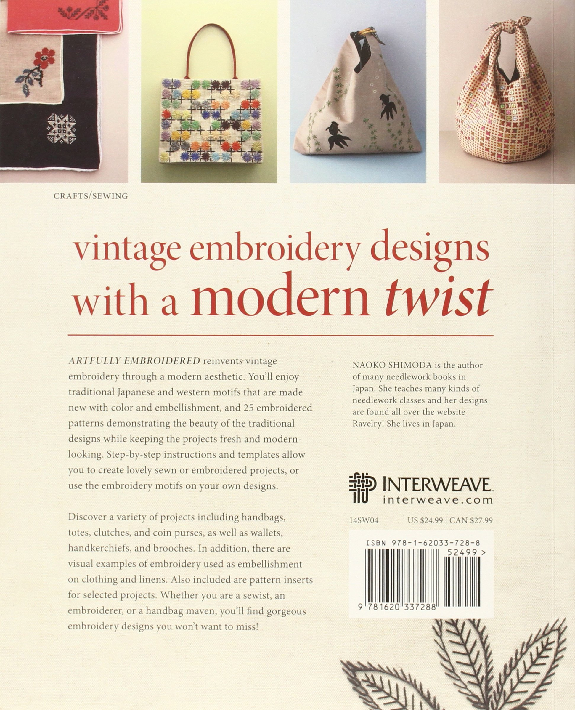 Artfully Embroidered: Motifs and Patterns for Bags and More: Naoko