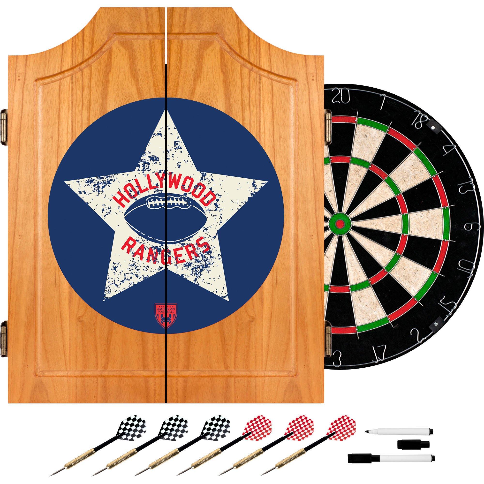 VAF Hollywood Rangers Wood Dart Cabinet Set