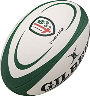 London Irish - Ballon de Rugby Réplique Officiel - Vert/Blanc Multicolore Taille 5 Grays 43029005