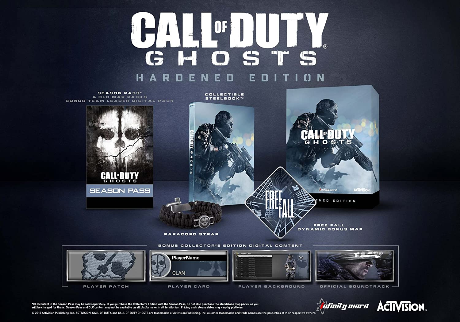 Amazon.com: Call of Duty: Ghosts Hardened Edition - Xbox 360 ... on call of duty black ops 3 release date, call of duty black ops rezurrection, call of duty ghost whiteout map, call duty ghost alien, call of duty black ops screenshots, black ops 1 dlc maps, bo2 dlc maps, call of duty 3 maps, sniper ghost warrior maps, call of duty mw3 maps, black ops 2 dlc maps, call of duty ghosts dlc fog, call of duty black ops 2 orientation, call of duty black ops moon map, call of duty extinction map, call of duty advanced warfare goliath, call of duty black ghost, call of duty world at war zombie maps, all call of duty ghost maps, call of duty mw3 dome,