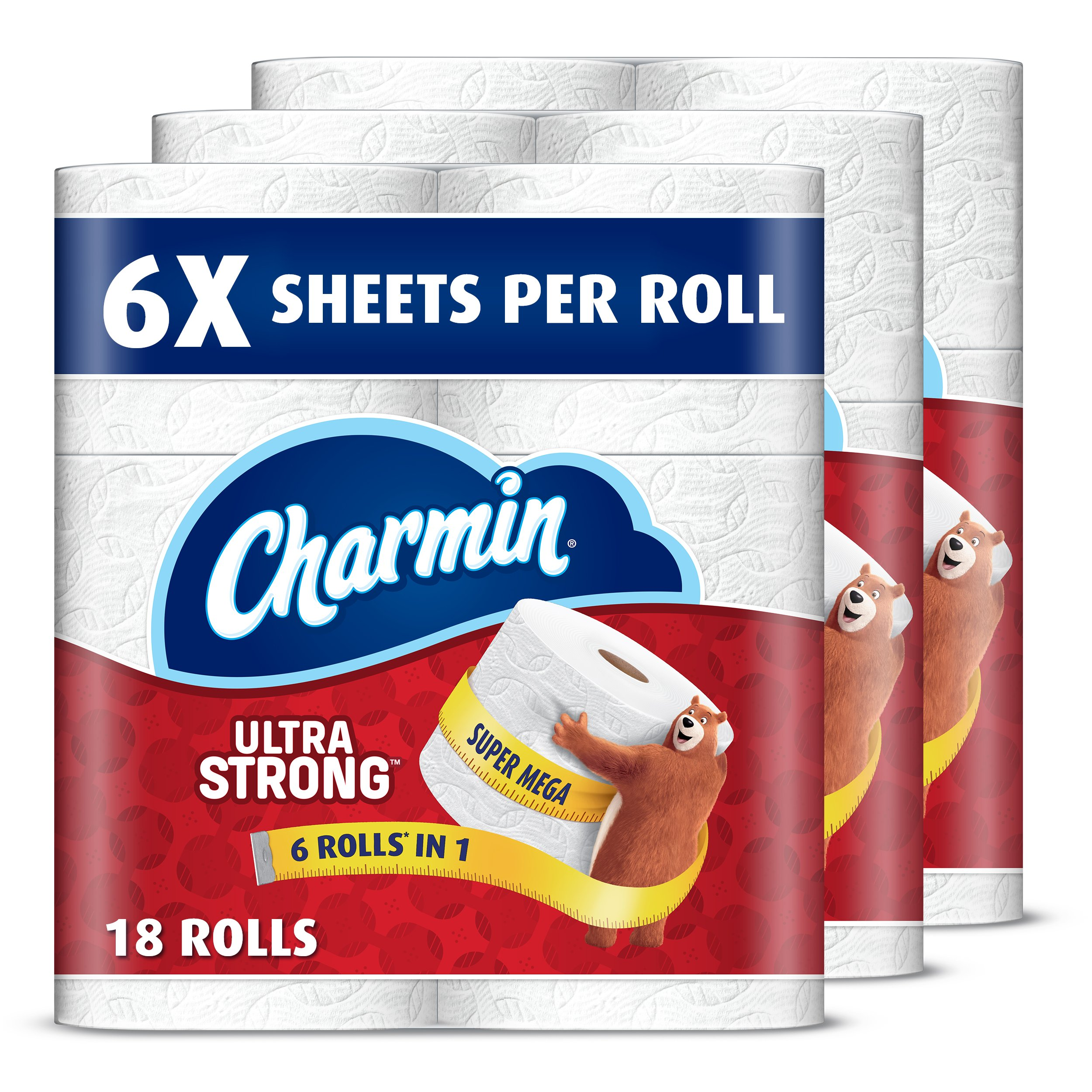 Charmin Super Mega Roll Ultra Strong Toilet Paper, 18 Count by Charmin